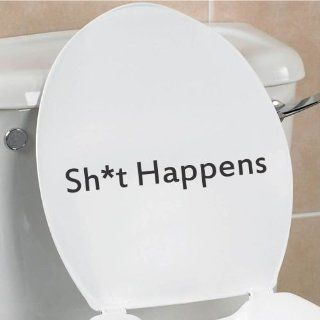 Sh*t Happens funny toilet seat bathroom home vinyl decal sticker   Wall Decor Stickers