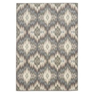 Diamond Ikat Area Rug   Blue/Cream (710x10)