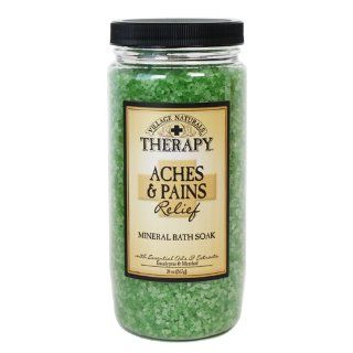 Village Naturals Therapy Aches & Pains Mineral Bath Soak 20 oz  Bath Minerals And Salts  Beauty