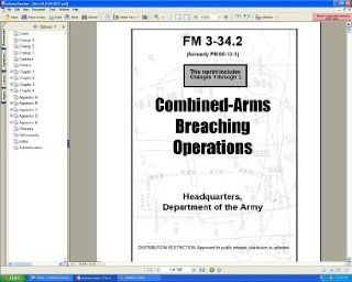 U.S. Army FM 3 34.2 Combined Arms Breaching Operations Theory, Tactics, Techniques, Planning Field Manual Guide Book on CD ROM  Other Products