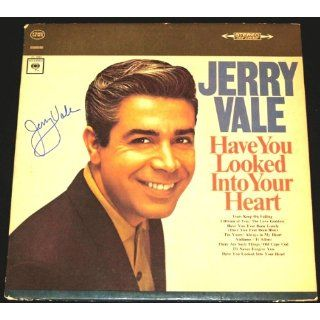 Jerry Vale Autographed / Hand Signed Have You Looked Into Your Heart LP Record Album Cover   Jerry Vale Entertainment Collectibles