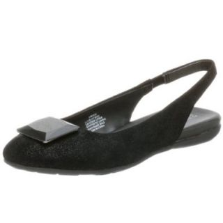 Kenneth Cole REACTION Women's Look at Boo Slingback Flat,Black,5.5 M Shoes