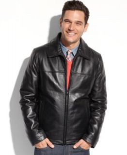 MICHAEL Michael Kors Jacket, Lowell 4 Pocket Leather Moto Jacket   Coats & Jackets   Men