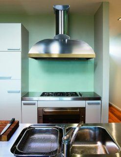 "Vent A Hood XLH12 236C SS Stainless Steel 36"" 600 CFM Wall Mounted Range Hood with Dual Blowers Halogen Lights and a 2"" Lip XLH12 236C Appliances"