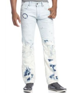 Rocawear Jeans, Havoc Rip and Repair Straight Leg Jeans   Jeans   Men