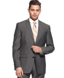 Bar III Charcoal Mini Herringbone Dress Pants Slim Fit   Suits & Suit Separates   Men