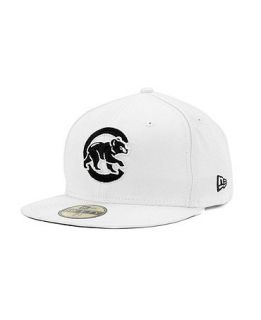 New Era Chicago Cubs MLB White And Black 59FIFTY Cap   Sports Fan Shop By Lids   Men