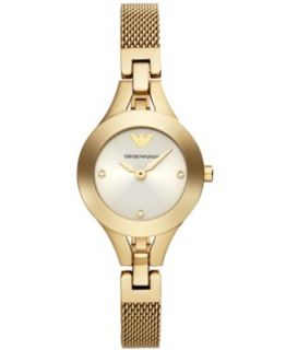Emporio Armani Womens Chiara Rose Gold Tone Stainless Steel Mesh Bracelet Watch 26mm AR7362   Watches   Jewelry & Watches