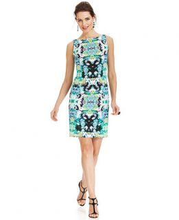 Maggy London Sleeveless Floral Print Sheath   Women