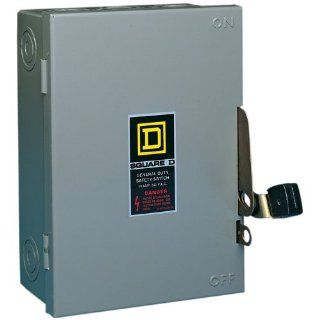 Square D by Schneider Electric D221NCP 30 Amp 240 Volt Two Pole Indoor General Duty Fusible Safety Switch with Neutral   Circuit Breakers