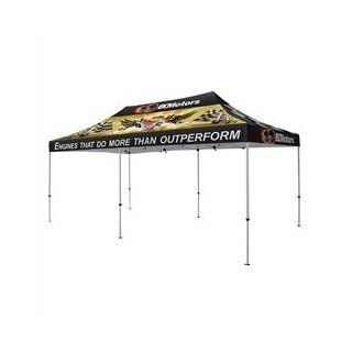 Commercial Grade Professional 10' x 20' foot Deluxe Pop Up Tent with Custom Full Color Imprinted Canopy for Trade Shows, Events, Exhibits, Markets and more  Presentation Display Booths
