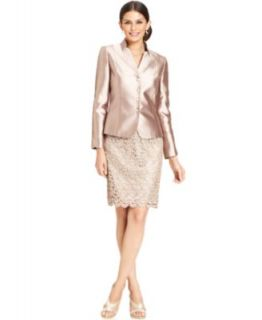 Tahari by ASL Lace Open Front Jacket & Lace Dress   Dresses   Women