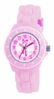 Tikkers Girls Baby Pink Ballet Slippers Rubber/Silicone Strap Watch TK0019 Watches