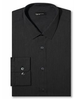 Bar III Slim Fit Black Pinstripe Dress Shirt   Dress Shirts   Men