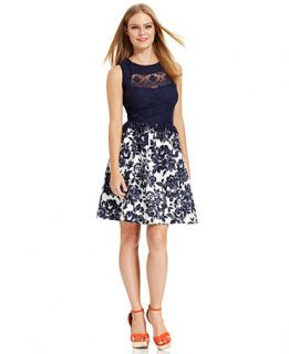 Jessica Simpson Sleeveless Lace Floral Print Dress   Dresses   Women