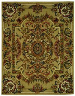 Safavieh Savonnerie Collection SAV202A Sage and Beige Handmade Wool Area Rug, 8 Feet by 10 Feet