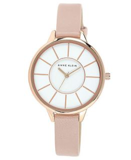 Anne Klein Womens Light Pink Leather Strap Watch 38mm AK 1500RGLP   Watches   Jewelry & Watches