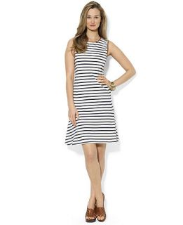 Lauren Ralph Lauren Petite Sleeveless Striped A Line Dress   Dresses   Women