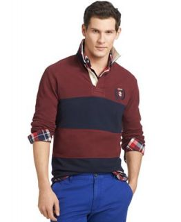 Izod Shirt, Long Sleeve Striped Rugby Polo   Polos   Men