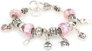 Royal Diamond Designer Style Mom Fashion Designer Baby Mother Charm Light Pink Bracelet Snake Charm Bracelets Jewelry