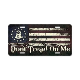 DTOM   Snake Flag Aluminum License Plate