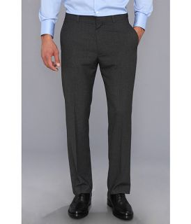 Perry Ellis Regular Fit Pinstripe Flatfront Dress Pant Charcoal