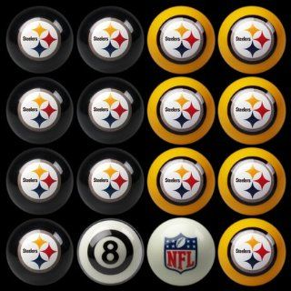 Pittsburgh Steelers NFL Home vs. Away Billiard Balls Full Set (16 Ball Set) by Impe  Steeler Pool Balls  Sports & Outdoors