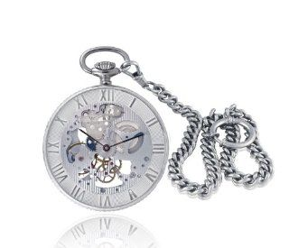Catorex Men's 183.2.1679.000 Armand Cattin Automatic Sterling Silver Roman Numerals Exhibition Pocket Watch Watches