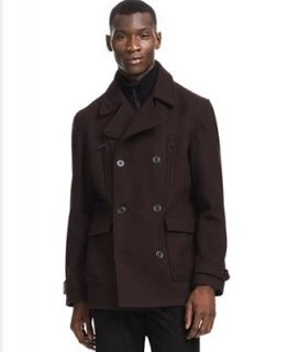 Kenneth Cole Reaction Coat, Solid Peacoat   Coats & Jackets   Men