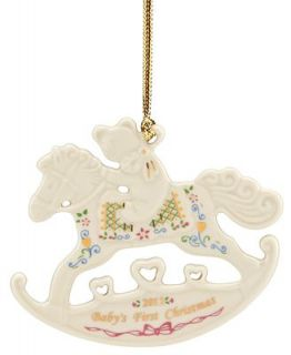 Lenox Christmas Ornament, Exclusive 2012 Babys First Rocking Horse   Holiday Lane