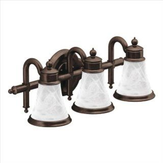 Moen YB9863ORB Waterhill Three Globe Bath Light, Oil Rubbed Bronze   Vanity Lighting Fixtures