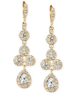 kate spade new york Earrings, Gold Tone Crystal Cluster Drop Earrings   Fashion Jewelry   Jewelry & Watches