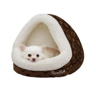 Pecalle Dome Shaped Pet Dog/Cat Bed w/Removable Cushion, PBDD 400, Brown