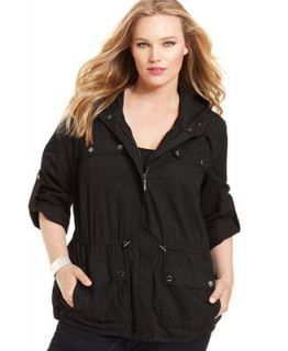 MICHAEL Michael Kors Plus Size Jacket, Hooded Anorak   Jackets & Blazers   Plus Sizes