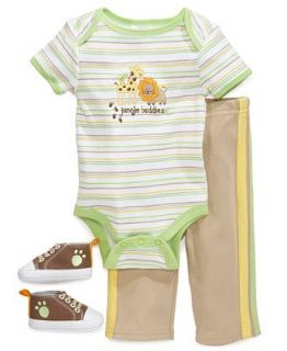 Cutie Pie Baby Set, Baby Boys 3 Piece Hanger Set with Bodysuit, Pants and Shoes   Kids