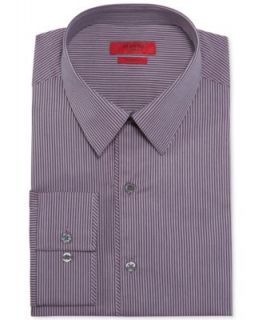 Alfani RED Fitted Purple Optic Check Dress Shirt   Dress Shirts   Men