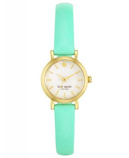kate spade new york Womens Tiny Metro Bud Green Saffiano Leather Strap Watch 20mm 1YRU0368   Watches   Jewelry & Watches