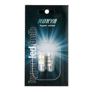 Nokya 168, 194 SMD LED 6000K Single Side Light Bulbs   Resister on bulb installed; EURO Vehicles Error Free LEDs, 1 Side Direction (4X LED on one side), Twin Pack for 158, 161, 168, 184, 192, 193, 194, 558, 658, 2821, 2825, 5304, 5307, 12256, 12961 replace