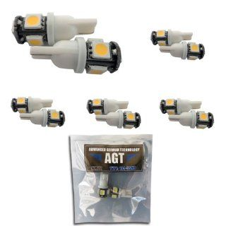 AGT 10x 194 168 2825 5 SMD White High Power LED Car Lights Bulb Automotive