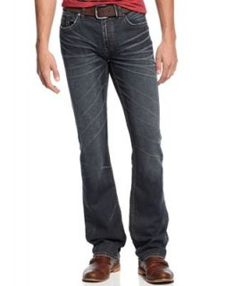 Buffalo David Bitton Six X Slim Straight Leg Jeans, Lightly Sandblasted Wash   Jeans   Men