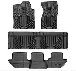 2000 2006 Chevrolet Suburban Black WeatherTech Floor Mat (Full Set) [2nd Row Bucket Seating] Automotive