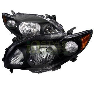 2009 2010 Toyota Corolla Euro Headlight Black Housing Automotive