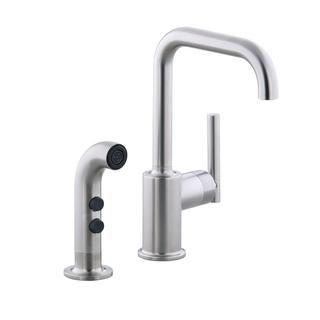 Kohler Purist Secondary Swing Spout with Spray Kohler Kitchen Faucets
