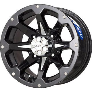 "G FX Six Shooter Gloss Black Machined ATV Wheel (12x7""/4x156mm) Automotive"