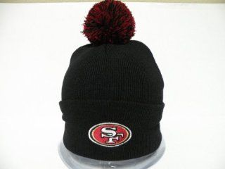 Authentic NFL San Francisco 49ers Logo Retro Black Toque Pin Pin Beanie Cap  Sports Fan Baseball Caps  Sports & Outdoors