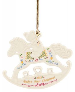Lenox Christmas Exclusive Ornament, 2013 Babys First Rocking Horse   Holiday Lane