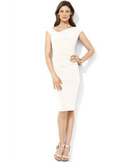 Lauren Ralph Lauren Dress, Cap Sleeve Jersey Sheath   Dresses   Women