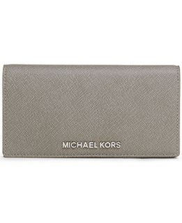 MICHAEL Michael Kors Jet Set Large Slim Travel Wallet   Handbags & Accessories