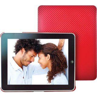 Dexim DLA144 Carbon Fiber Fabric Sleeve for iPad   Red  Players & Accessories