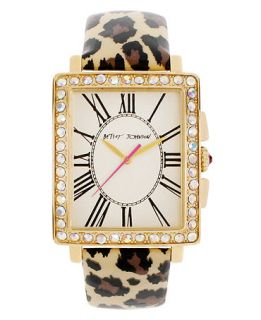 Betsey Johnson Watch, Womens Leopard Print Patent Leather Strap 33mm BJ00126 04   Watches   Jewelry & Watches